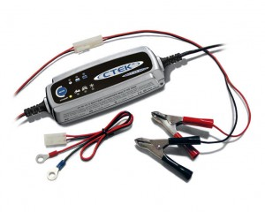 Connect your battery to a charger with maintenance function, like this Ctek